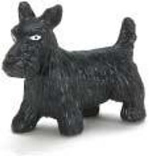 "Dollhouse Miniature - G1741 - 1-1/2"" BLACK SCOTTY DOG"