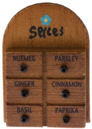 Dollhouse Miniature - 21101 - Spice Rack - IM65293