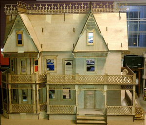 VICTORIAN GINGERBREAD FARMHOUSE FRONT