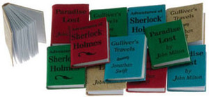 Dollhouse Miniature - IM65778 - Books - Pkg/12, Small w/Printed Covers Title B