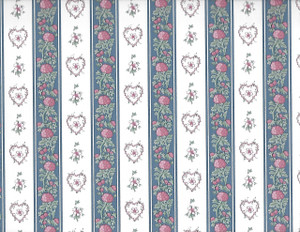 ADS3905 - WP -White/Blue Floral Stripe