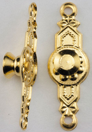CLA05510 - Colonial Door Knobs - 2 pack - Gold Plated