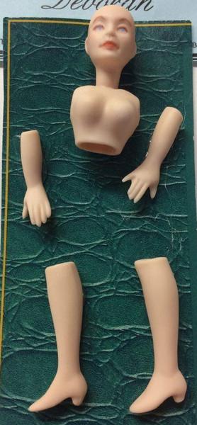 Dollhouse Miniature - Porcelain Doll Kit - Deborah 1 - 1:12 Scale