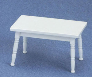 Dollhouse Miniature - **DISCONTINUED** - CLA10740 - CHILD-SIZED TABLE - WHITE