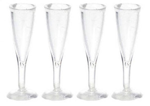 FR40326 - Fluted Champagne Glasses - Set of 4 - FA40326