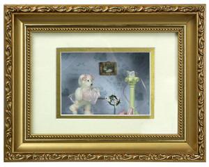 G4822 - Bear Shadow Box - Bear with Hat - Pink