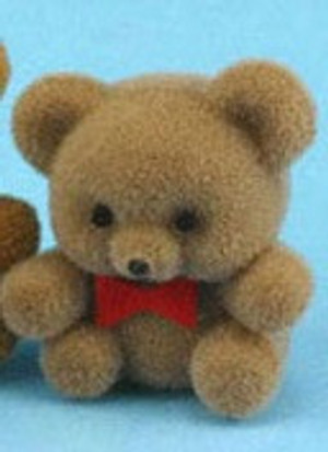 Dollhouse Miniature - 24300-3 - Flocked Bear - Light Brown- Small