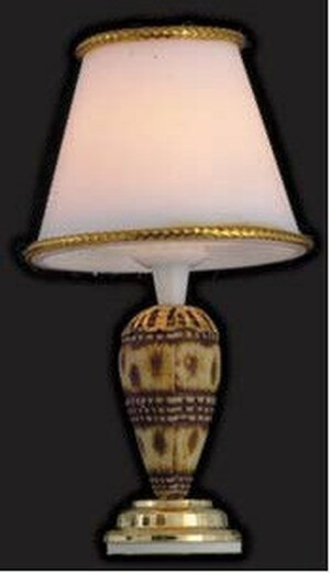 Dollhouse Miniature - Shell Table Lamp - T8519