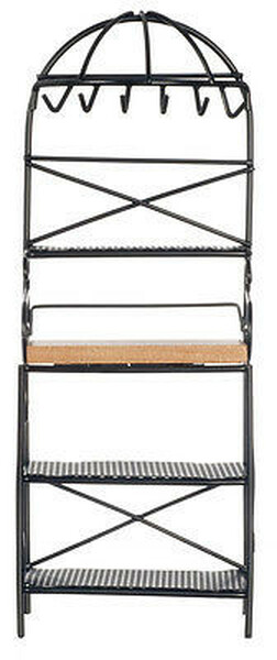 Dollhouse Miniature - Metal Kitchen Rack - Black -CLA06815 & D6815