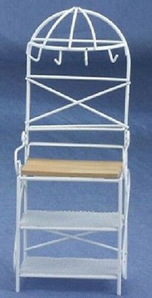 Dollhouse Miniature - CLA10342 - G9825W - Metal Kitchen Rack - White