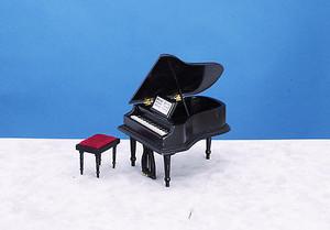 CLA91406 - Baby Grand Piano with Stool - Black