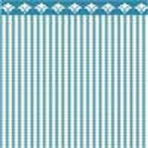 "Dollhouse Miniature - Wallpaper - 1/2"" Scale- BPHAM101B - Ticking - Blue"