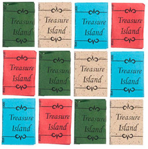 Dollhouse Miniature -G8543 - Treasure Island Books - Pkg/12