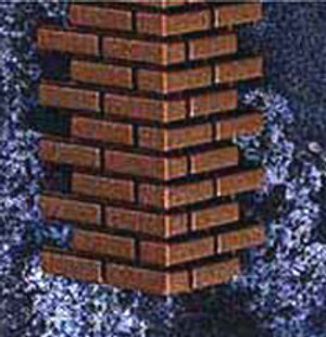 "HWH8207 - 1/2"" SCALE BRICK CORNERS"