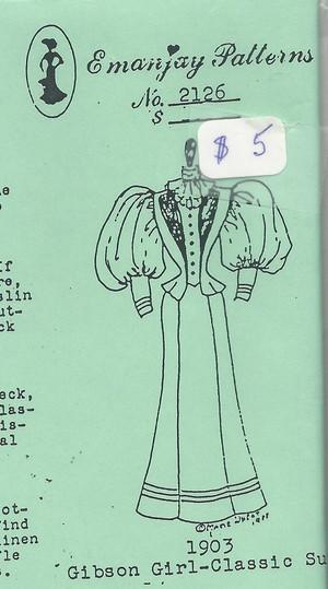 2126 - Edwardian Dress - Emanjay Sewing Pattern