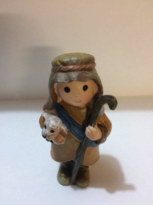 Polystone Mini Nativity Shepherd & Sheep - 652685