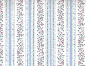 ADS3142 - WP - White Blue Lace - Pink Floral