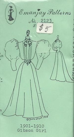 2123 - 1901-1910 Gibson Girl Dress- Emanjay Sewing Pattern