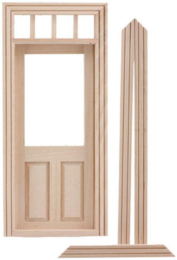 CLA76018 - Traditional 2 Panel Door w/Window