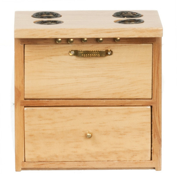 D3777NC - MODERN KITCHEN STOVE - OAK