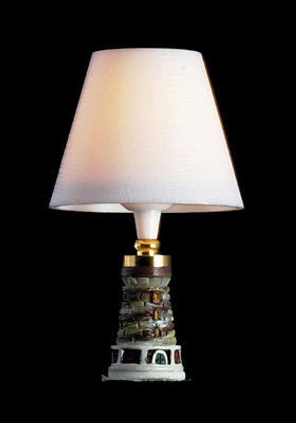 Dollhouse Miniature - T8672Table Lamp - Lighthouse - 12v