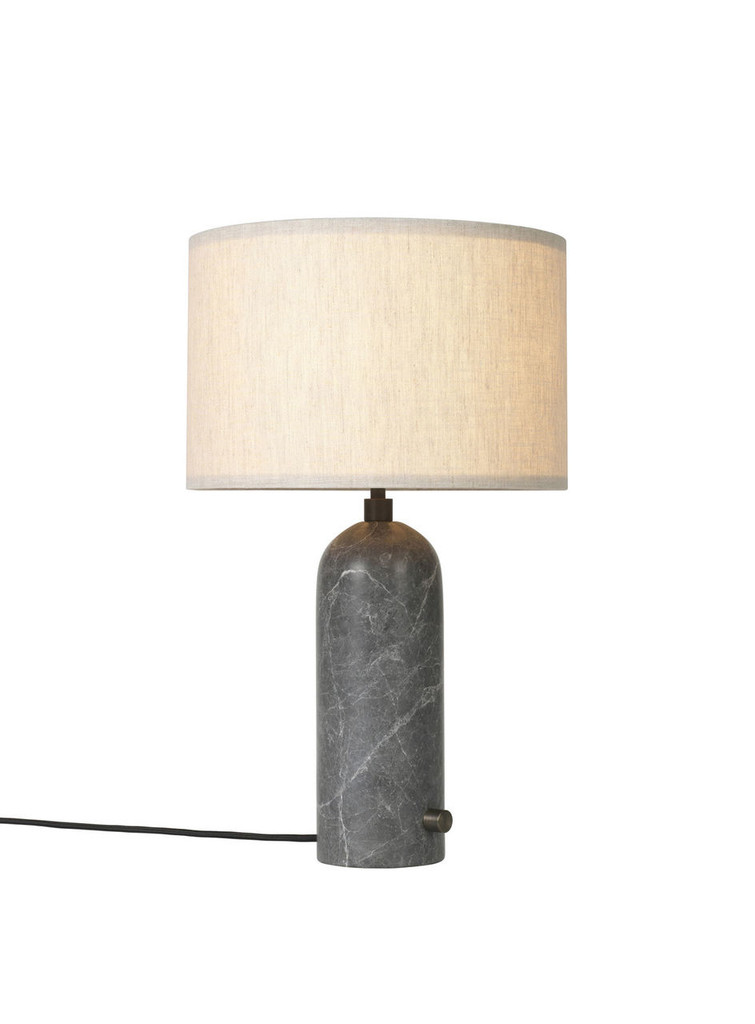 GUBI - GRAVITY TABLE LAMP GREY MARBLE - SMALL