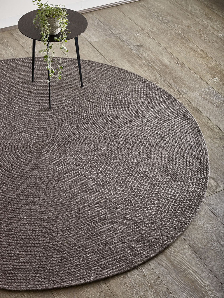 THE RUG COLLECTION - PADDINGTON ROUND RUG - CHARCOAL