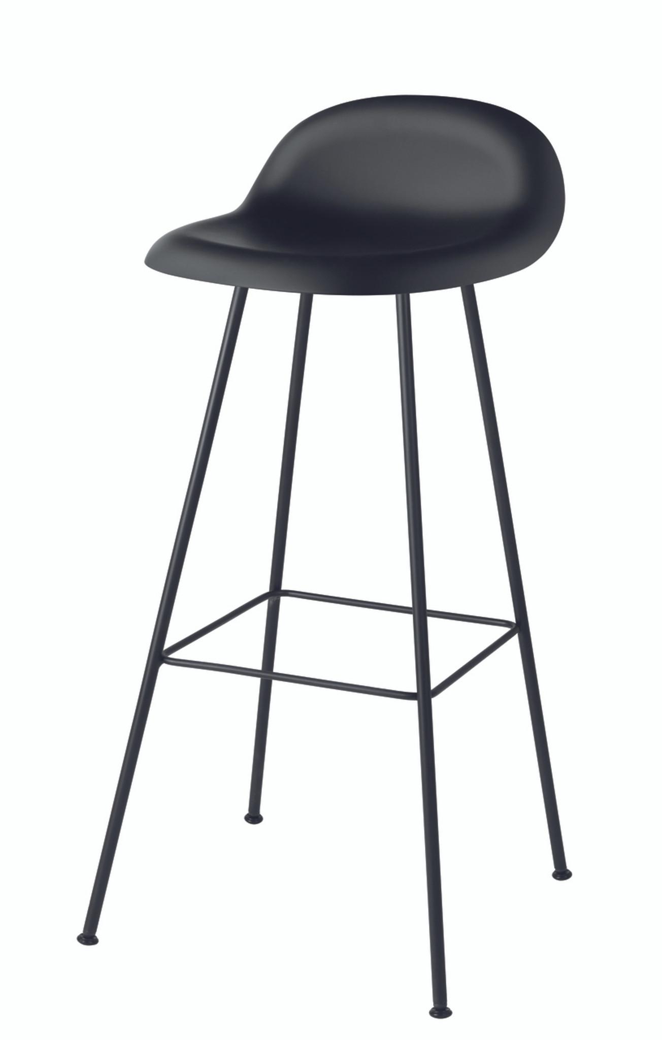 Gubi 3d black bar stool with wire base