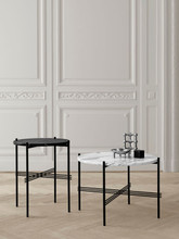 GUBI - TS TABLE BRASS WITH GLASS TOP - M (VARIOUS COLOURS)