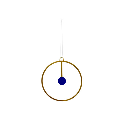 OYOY - JOULU ORNAMENT - BRASS & BLUE