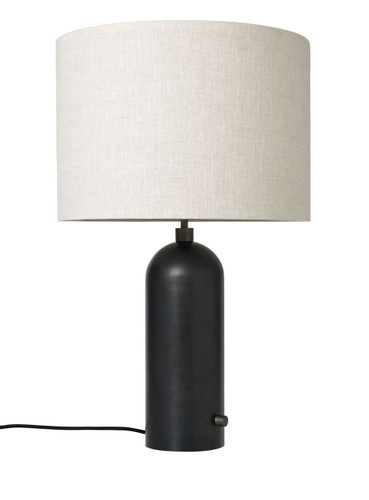 GUBI - GRAVITY TABLE LAMP BLACKENED STEEL - LARGE