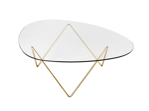 GUBI - PEDRERA COFFEE TABLE BRASS BASE