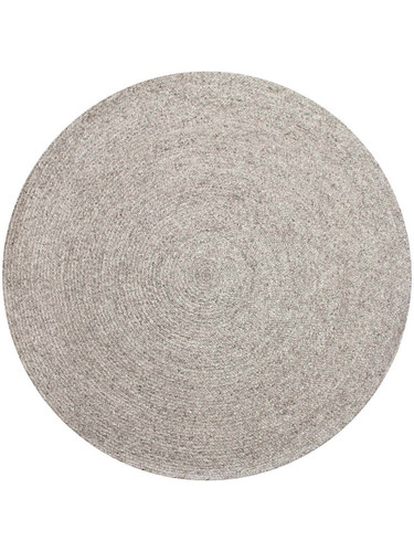 THE RUG COLLECTION - PADDINGTON ROUND RUG - SILVER