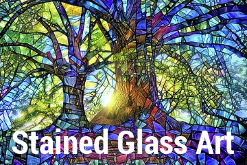 Stained Glass Art Banner