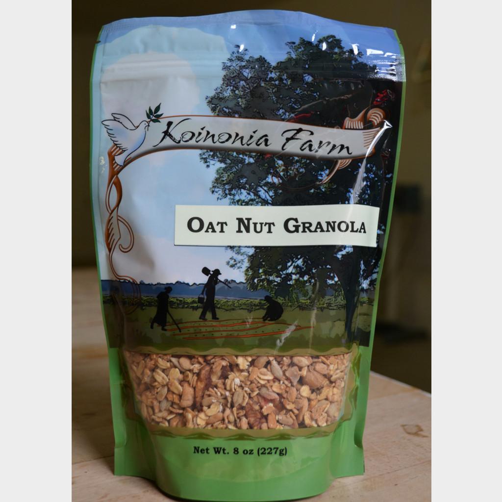 Koinonia Farm Handmade Oat Nut Granola 8 oz bag front
