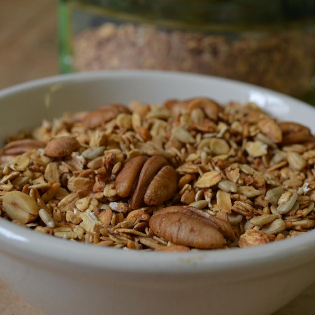 Koinonia Farm Handmade Oat Nut Granola Close Up