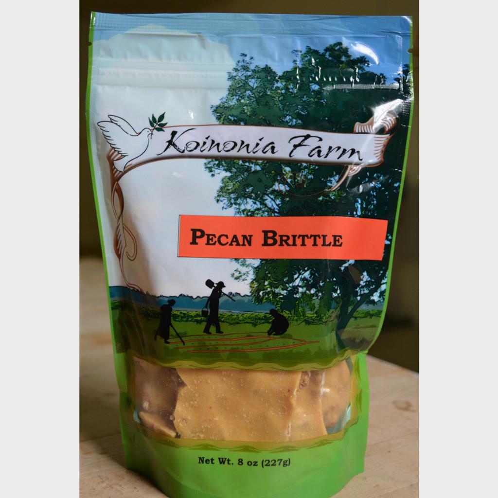 Koinonia Farm Pecan Brittle 8 oz Bag Front Bag