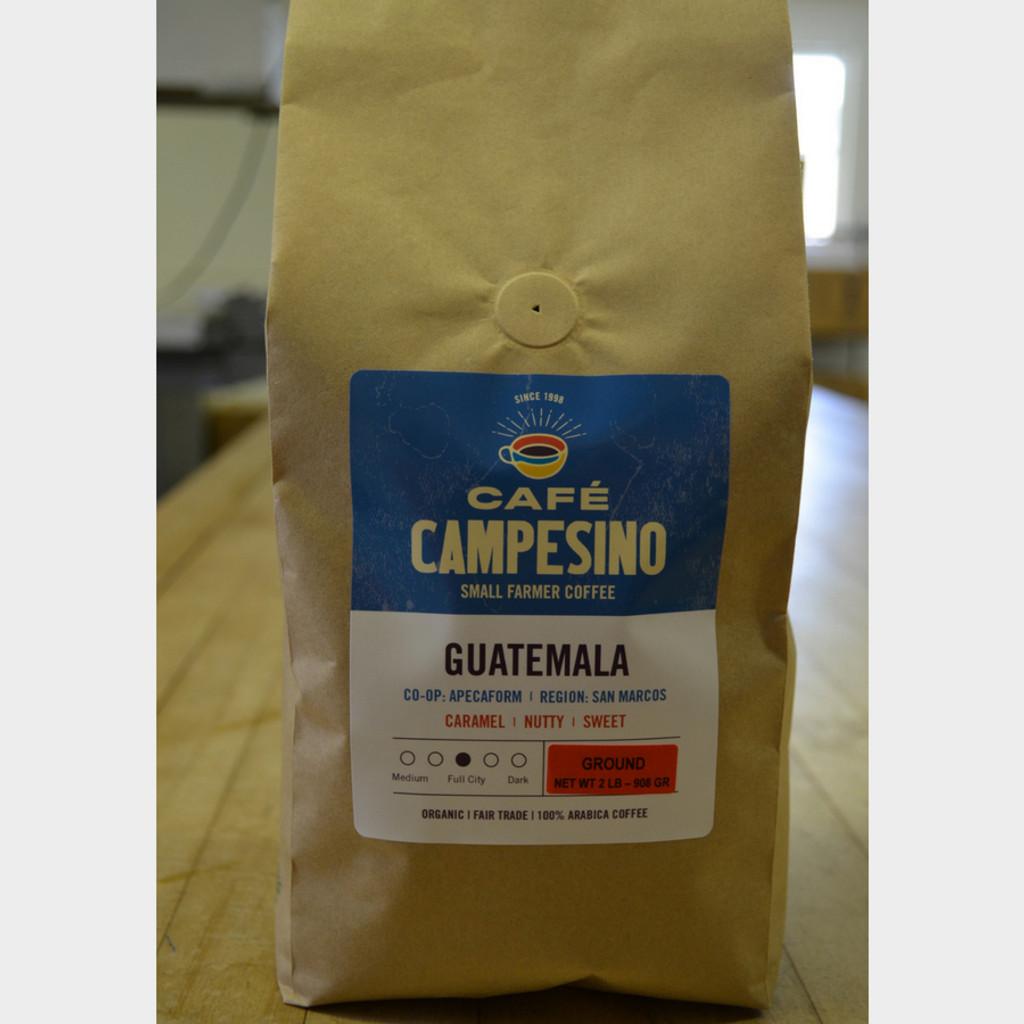 Guatemala Full City Roast Fair Trade Coffee by Café Campesino 2 lb bag ground