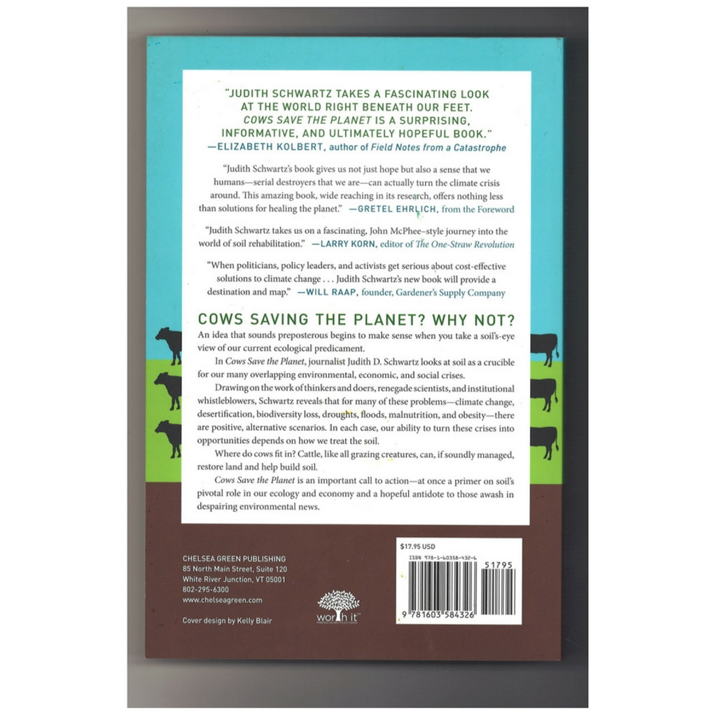 Cows Save the Planet by Judith Schwartz Paperback Back Cover