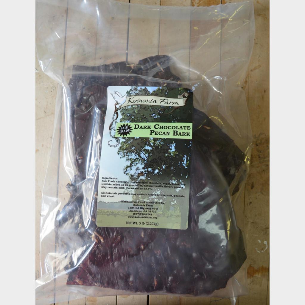 Dark Chocolate Pecan Bark 5 Lb. Bag