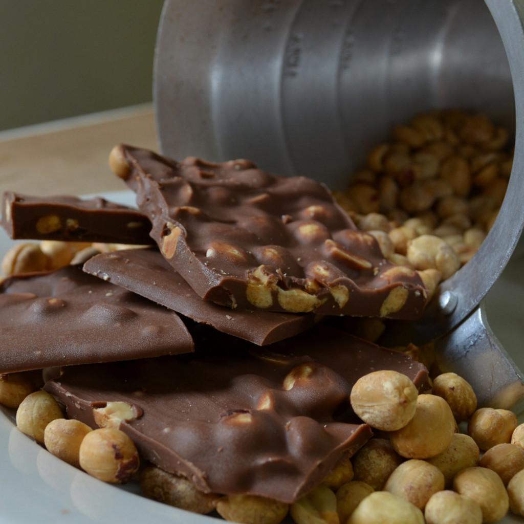 Fair Trade Milk Chocolate Peanut Crunch Close