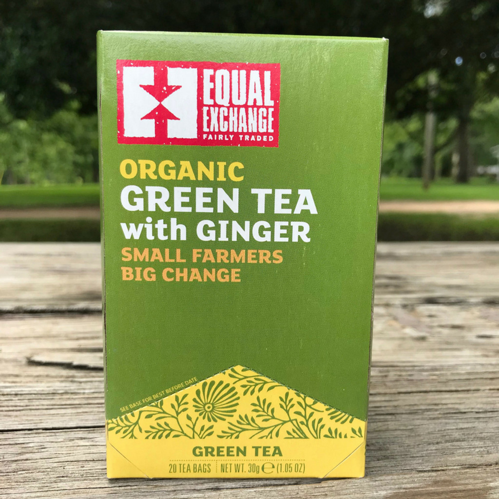 Organic Fair Trade Green Tea with Ginger by Equal Exchange