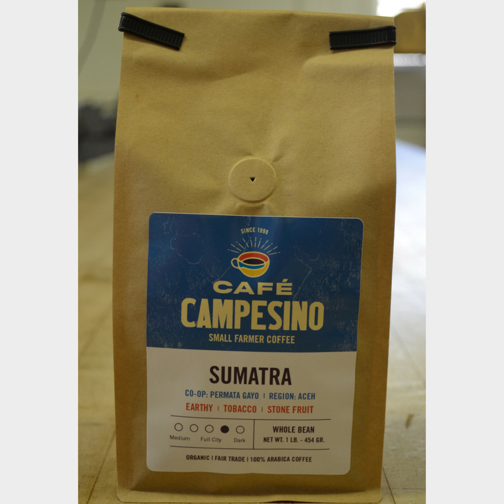 Sumatra Viennese Roast Coffee 1 lb Bag Whole Bean