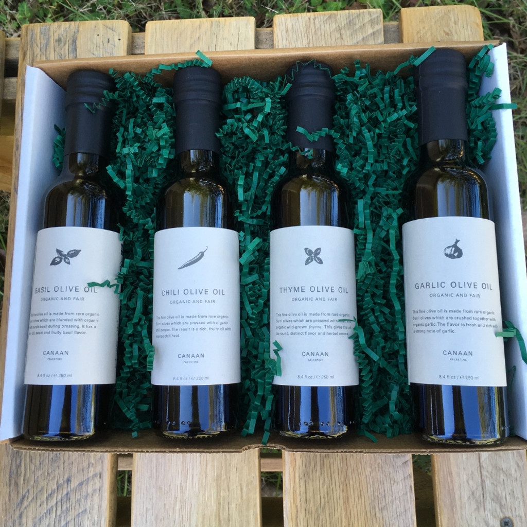 Fused Olive Oil Set of Four in Box