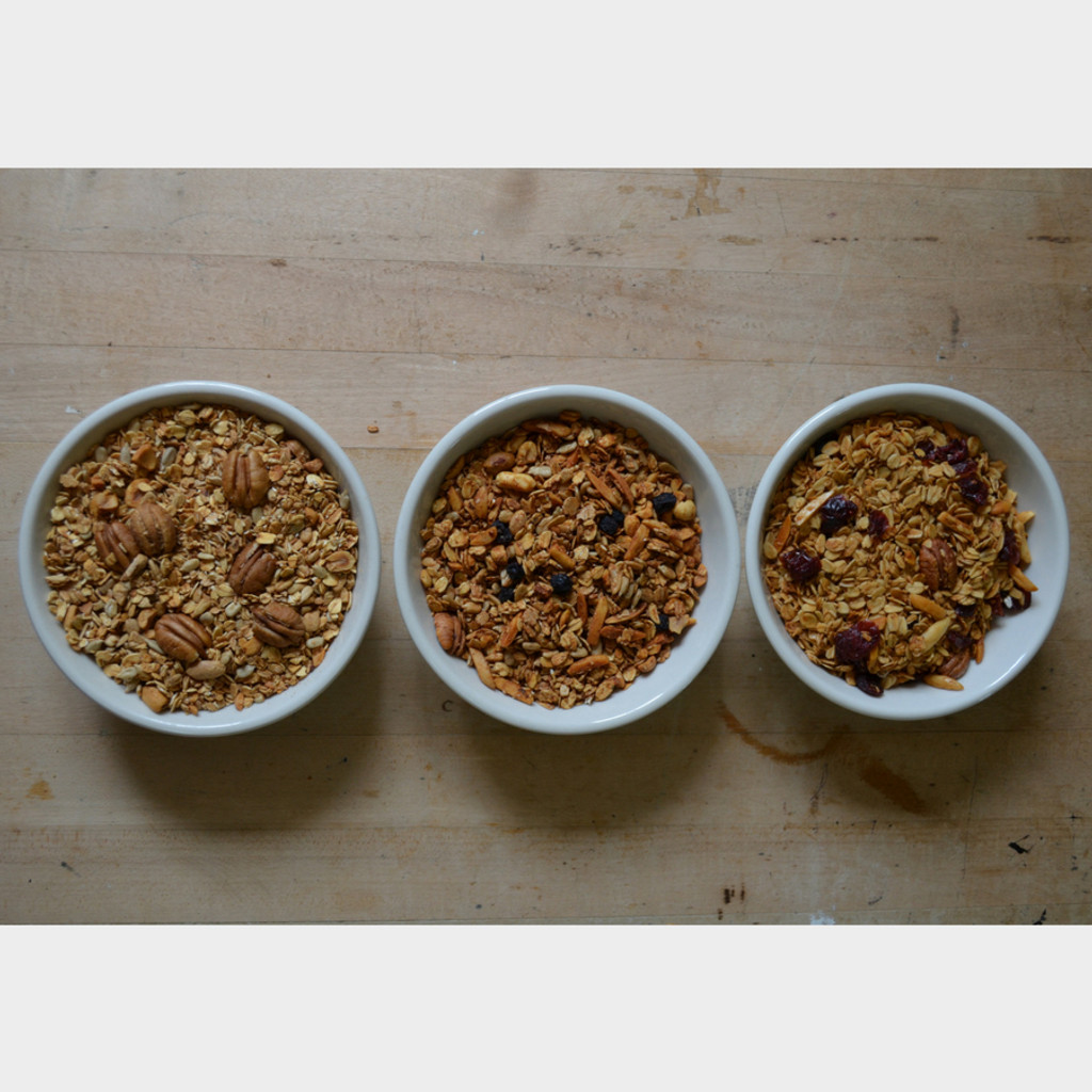 Granola Varieties- Oat Nut, Cranberry, and Blueberry
