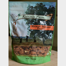 Hickory Smoked Pecans 1 lb. Bag Front