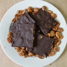 Extra Dark Chocolate Pecan Bark Above