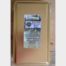Extra Dark Chocolate Pecan Bark 1 lb tin