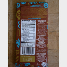Divine Fair Trade Milk Chocolate with Toffee and Sea Salt Back