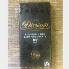 Divine Fair Trade Chocolate Exquisitely Rich Dark Chocolate Bar Front